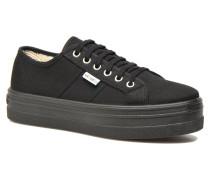 Basket Lona Plataforma Sneaker in schwarz