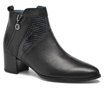 HECHIX #Mult Vo Milled NOIR ~Doubl & 1ere CUIR Stiefeletten Boots in schwarz