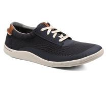 Mapped Edge Sneaker in blau