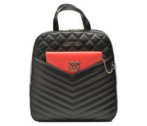 Quilted backpack Clutch Rucksäcke für Taschen in schwarz