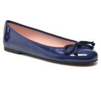 Rosario thick lace Ballerinas in blau