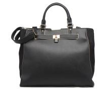 Black WBone Piping Belted Oversize Tote Handtaschen für Taschen in schwarz