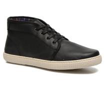 Chukka Piel Sneaker in schwarz