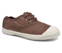 Tennis Lacets E Sneaker in braun