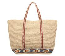 Cabas raphia brodé M+ Handtaschen für Taschen in beige