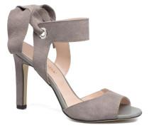 Malene Leather Sandal Sandalen in grau