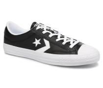Star Player Leather Essentials Ox Sneaker in schwarz