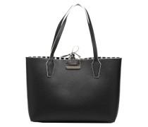 Cabas Reversible Bobbi Rayé Handtasche in schwarz