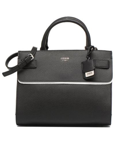 Guess Damen Cate satchel Handtasche in schwarz Neue Stile Günstiger Preis 23cX0B7Nf