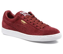 Suede classic eco W Sneaker in weinrot