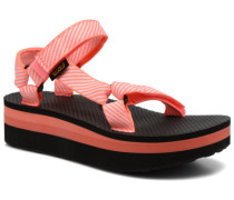 Flatform Universal Candy Sandalen in orange