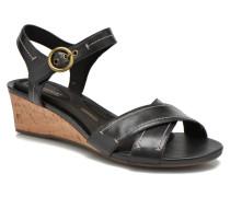 TM55MWS Stitched Sandalen in schwarz