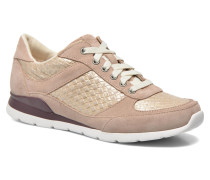 Avelyn Metallic Basket Sneaker in beige
