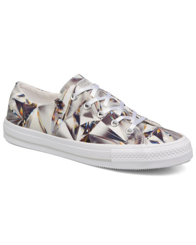 Chuck Taylor All Star Gemma Hi Graphic Sneaker in silber
