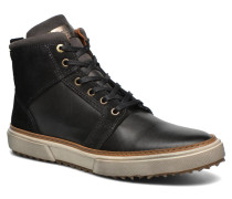 Benevento Fur Mid Men Sneaker in schwarz