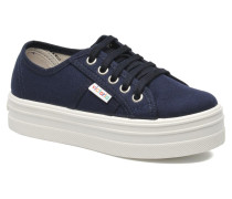 Blucher Lona Plataforma Kids Sneaker in blau
