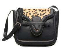 TATY Crossbody Suede leather bag Handtaschen für Taschen in schwarz