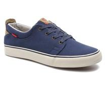 Justin Low Lace Sneaker in blau