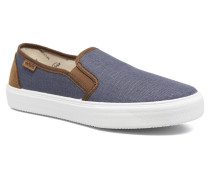 Slip On Piel Grabada Coco Sneaker in blau