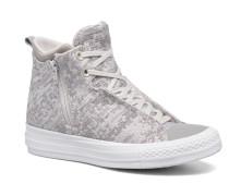 Ctas Selene Winter Knit Mid Sneaker in weiß