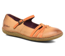 Hibou Ballerinas in orange