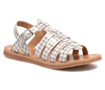 Plagette Strap Sandalen in beige