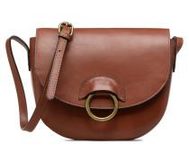 Ivana Leather Crossbody Handtasche in braun
