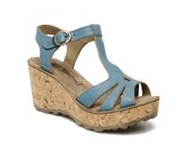 Gold Sandalen in blau