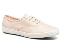 Ch Metallic Canvas Sneaker in rosa