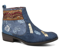 Denim patch boho Stiefeletten & Boots in mehrfarbig