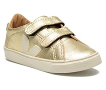 Esplar Small Velcro Leather Sneaker in goldinbronze