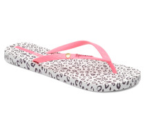 Animal Print Zehensandalen in rosa