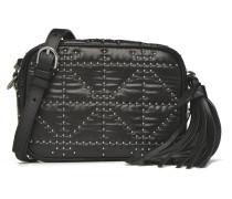 Camera bag nylon clouté Porté travers Handtaschen für Taschen in schwarz