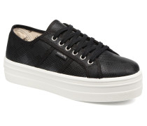 Basket Cuadros Brillo Plat Sneaker in schwarz