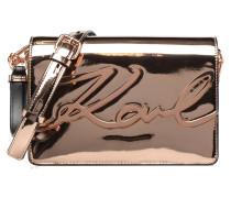 K Signature Gloss Shoulder Bag Metallic Handtaschen für Taschen in rosa