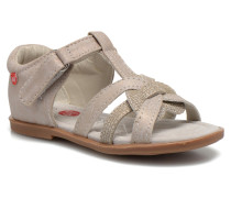 Satin Sandalen in beige
