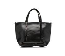 Baby cabas Cuir Lisse Handtaschen für Taschen in schwarz