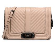 CHEVRON QUILTED SMALL LOVE CRO Handtaschen für Taschen in beige