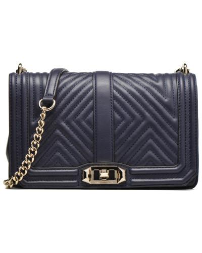 Geo quilted Love Crossbody Handtaschen für Taschen in blau