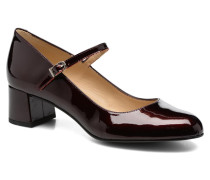 Satina Pumps in weinrot