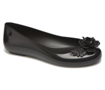 space love flower Ballerinas in schwarz