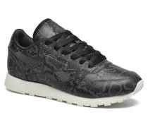 Cl Lthr Snake Sneaker in schwarz