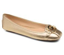 Fulton Moc Ballerinas in goldinbronze