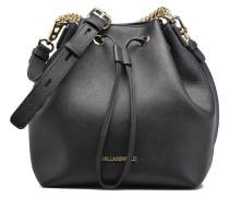 Klassik Drawstring Handtaschen für Taschen in schwarz