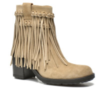 Oprah 7 Small Boot Franges Stiefeletten & Boots in beige