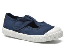 Sandalia Lona Tintada Velcr Sneaker in blau