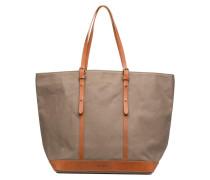 Cabas coton et cuir M+ Handtaschen für Taschen in grün