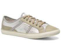 Megina Lace Up 023 Sneaker in silber