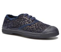 Tennis Gold Leopard E Sneaker in blau