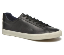 Esplar Leather Sneaker in schwarz